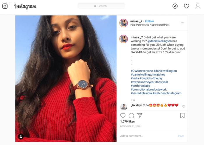 miaa._7 Instagram post - micro-influencer example