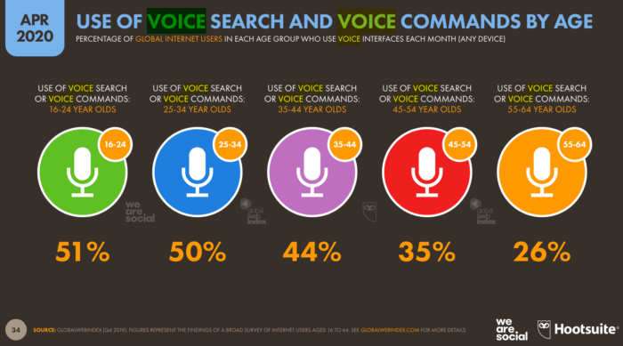 Use of Voice Search by Age