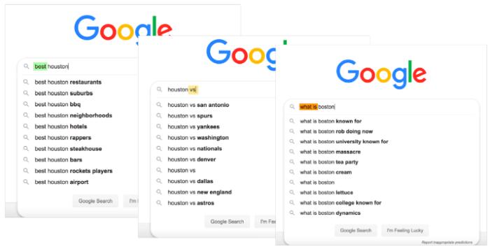 Google search auto correct