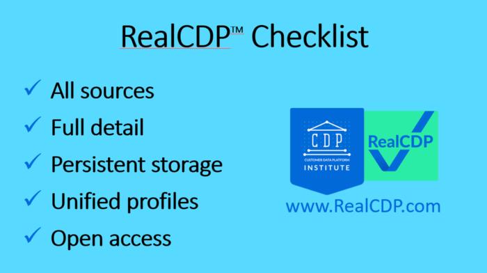 RealCDP checklist