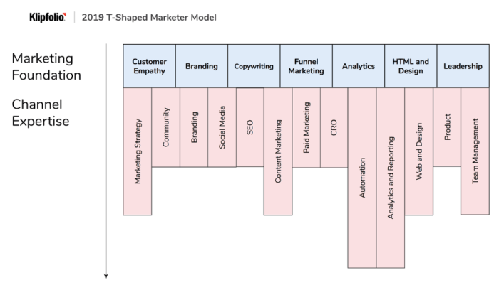 T-shaped marketer model
