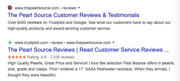 The Pearl Source testimonials