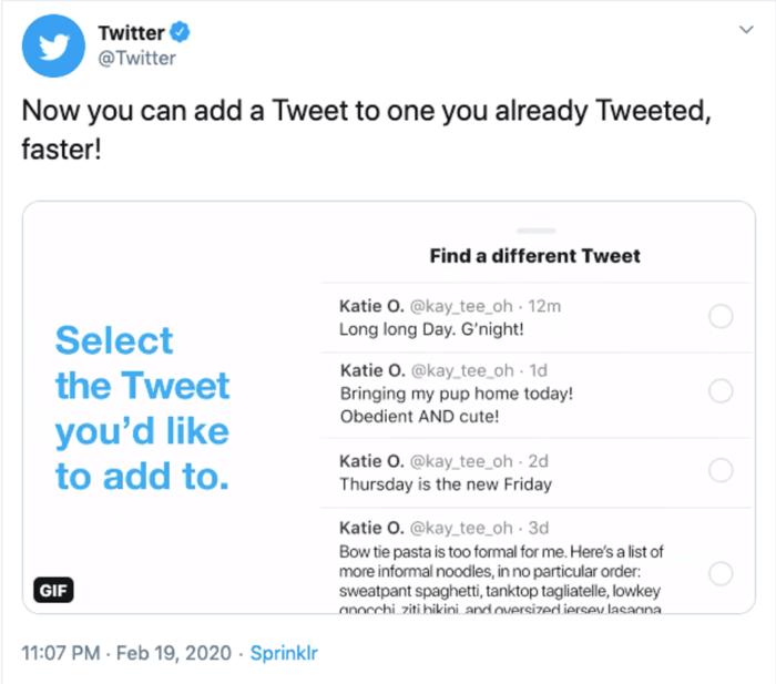 Twitter threads update