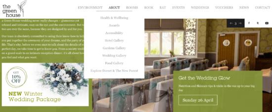 Wedding venue example