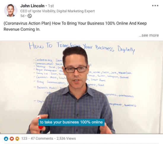 John Lincoln video