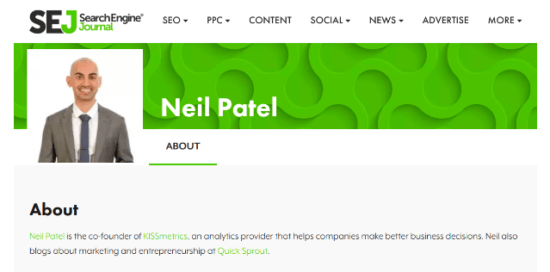 Neil Patel blogging