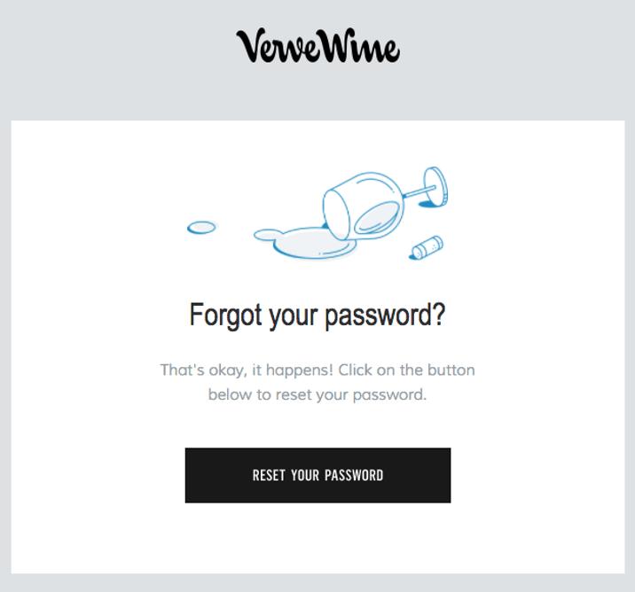 Forgot password message