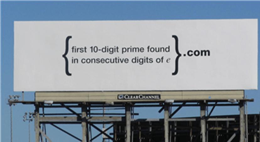 Google recruitment billboard