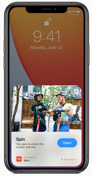 Clipe de aplicativo iOS14