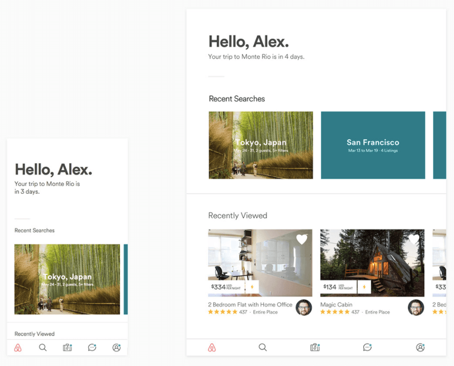 Conception UX Airbnb
