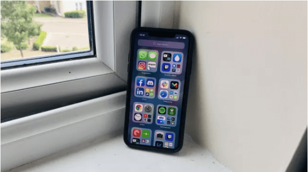 iPhone with iOS14