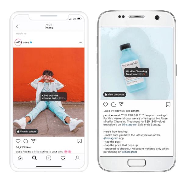 Tags de compras do Instagram