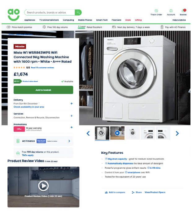 E-commerce reviews